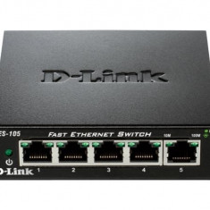 Dlink Sw 5P-Fe Unmngd Desk Metal - Switch