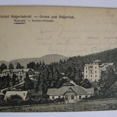 Carte postala Anina (jud. Caras-Severin, Banat) circulata in anul 1908 - Carte Postala Banat 1904-1918, Printata