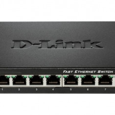 Dlink Sw 8P-Fe Unmngd Desk Metal - Switch