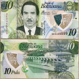 BOTSWANA- 10 PULA 2018- POLYMER- UNC!!