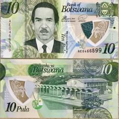 BOTSWANA- 10 PULA 2018- POLYMER- UNC!! - bancnota africa