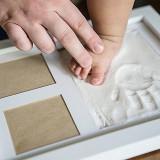 Kit rama si gips pentru amprenta manuta si piciorus
