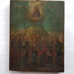 ICOANA ROMANEASCA PICTATĂ PE LEMN - INALTAREA LUI ISUS - sec. 19 - Icoana pe lemn