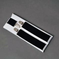 Bretele pantaloni barbati - negru - simple ( reglabile )