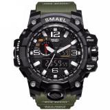 Ceas Sport SMAEL WR,Cu Dual Display,Shock Resist,Waterproof IP67, NOU la Cutie, Lux - sport, Quartz, Plastic