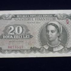 20 LEI 15 IUNIE 1950 - Bancnota romaneasca
