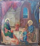 NASTEREA MAICII DOMNULUI, ICOANA ROMANEASCA PE LEMN, CIRCA 1950