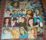 Lot 51 carti postale romanesti actori romani si straini Casa filmului ACIN, Printata, Romania de la 1950