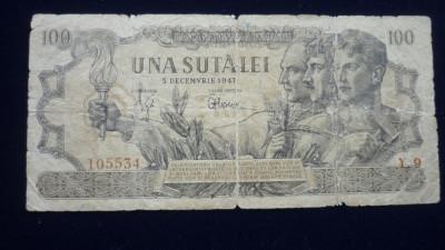 100 LEI 5 DECEMBRIE 1947 foto