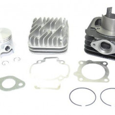 Set motor+chiuloasa scuter Piaggio Pro Series, Gilera/Typhoon/Zip, 80cc, 47.00mm, bolt 12mm, racire aer - Set cilindri Moto