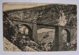 Carte postala viaduct Oravita - Anina (jud. Caras-Severin) circulata 1913, Printata