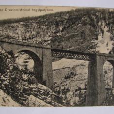 Carte postala viaduct Oravita - Anina (jud. Caras-Severin) circulata 1913 - Carte Postala Banat 1904-1918, Printata