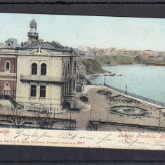 CONSTANTA PALATUL PRINTULUI STURZA CLASICA CIRC. 1906 ED. AD. MAIER & STERN - Carte Postala Dobrogea pana la 1904, Circulata, Printata