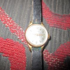 Ceas chaika de dama defect arata ca nou carcasa placata cu aur c19