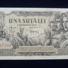 100 LEI 5 DECEMBRIE 1947 - Bancnota romaneasca