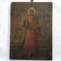 ICOANA ROMANEASCA PICTATA PE LEMN - ISUS INVATATORUL - sec. 19 - Icoana pe lemn