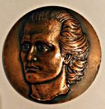 MEDALIE MIHAIL EMINESCU GENIAL POET AL POPORULUI ROMAN 1850 1889 RELIEF INALT