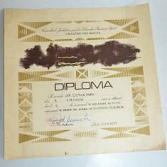 Diploma M.A.N. - R.S.R. -U.M. Cluj Napoca - deplasare pe 10 km - Diploma/Certificat