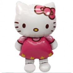 SET 10 BALOANE URIASE HELLO KITTY,BALOANE FOLIE CALITATE HELIU,50 CM,SUPER PARTY