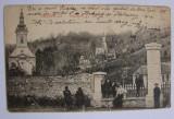 Carte postala ORAVITA Biserica gr. ort. (jud. Caras-Severin) circulata la 1914, Printata