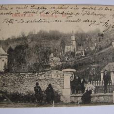 Carte postala ORAVITA Biserica gr. ort. (jud. Caras-Severin) circulata la 1914 - Carte Postala Banat 1904-1918, Printata