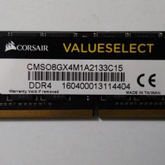 Sodimm Corsair 8Gb DDR4 2133Mhz - Memorie RAM laptop Corsair, Peste 2000 mhz