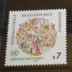 NATIUNILE UNITE VIENA 1984 – CONFERINTA PENTRU POPULATIE, nestampilat, A26