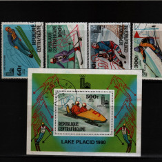 1980 africa centrala mi. 672-675 bloc 80 stampilate - Timbre straine