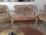 Salonas/canapea cu fotolii vintage/rococo/baroc/shabby chic/goblen, Sufragerii si mobilier salon, Dupa 1950
