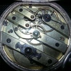 Ceas antic SERRAND,carcasa si mecanism ceas de buzunar de colectie,T.GRATUIT
