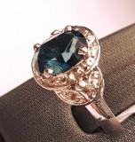 Inel din argint cu safir. Masura 16