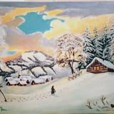 Iarna în Maramureș, Natura, Ulei, Altul