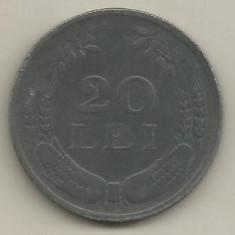 ROMANIA 20 LEI 1942 ZINC [1] VF, livrare in cartonas - Moneda Romania