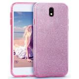 Husa  Samsung Galaxy J5 2017 Shiny  TPU Sclipici  - Bonus Folie Ecran, Alt model telefon Samsung, Roz, Gel TPU