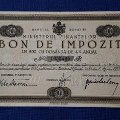 Bon de impozit 500 lei 1933