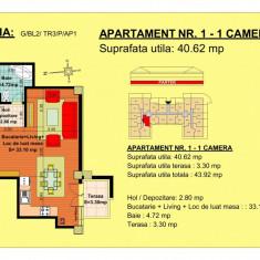 Garsoniera - Garsoniera de vanzare, 40 mp, An constructie: 2018, Parter