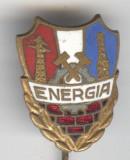 ENERGIA  - TELECOMUNICATII - ELECTRICITATE - Insigna veche email