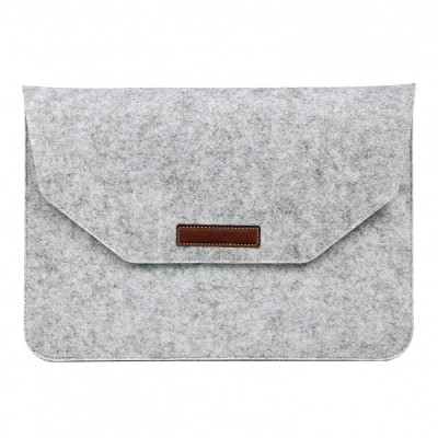 Husa plic universala pentru Macbook/tablete 13 inch, gri foto