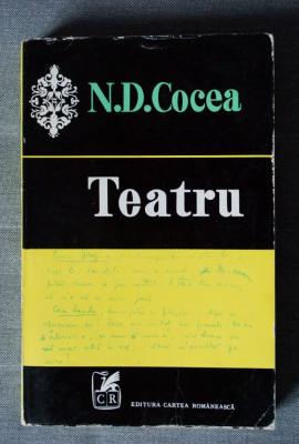 N. D. Cocea - Teatru (ediție îngrijită de Nicolae Florescu, tiraj 1000 ex.) foto