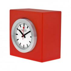 Ceas de birou – Mondaine Magnet Red Desk Cube Clock – A660.30318.84SBC - Ceas birou