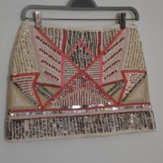 Fusta Zara cu margele, Marime: S, Culoare: Multicolor