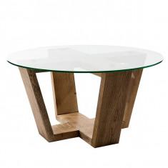 Masa de cafea unicat din lemn masiv Siena
