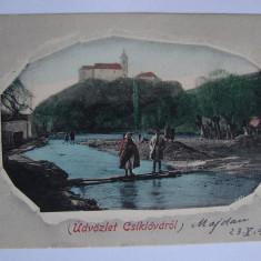 Carte postala Ciclova (jud. Caras-Severin, Banat) circulata la 1902 - Carte Postala Banat pana la 1904, Printata, Oravita