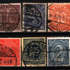 1920 germania mi 24-33 stampilate