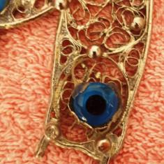 Potcoava din metal cu ochiul magic norocos, 10X8 cm
