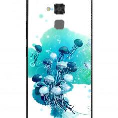 Husa Blue Jellyfish Painting Art ASUS Zenfone 3 Max Zc520tl