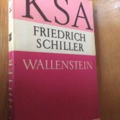 WALLENSTEIN - FRIEDERICH SCHILLER - CARTE IN LIMBA GERMANA