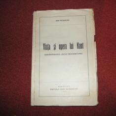 VIATA SI OPERA LUI KANT - ION PETROVICI - 1936