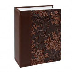 Album NewStyle, 100 poze 10x15, slip-in, piele ecologica, imprimeu floral