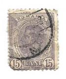Spic de grau, 1903, 15 bani, violet, obliterat (174), Regi, Stampilat